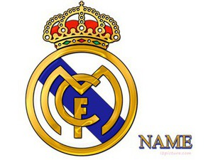 write your name on real madrid logo