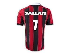 Write name on milan jersey shirt