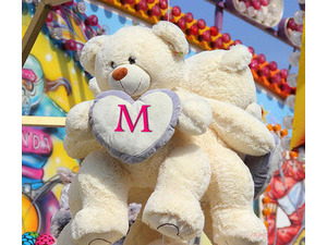 Your lovers name on the teddy bear