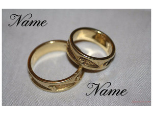 Your name on the gold rings