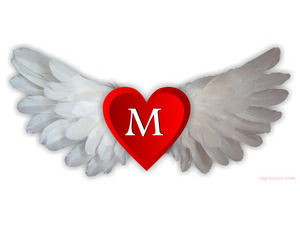 Your name and your lover have a red heart and white wings
