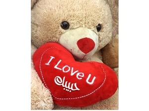 Your lover's name on the teddy bear