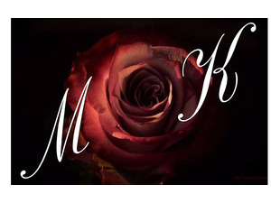 Your lover's name on the red rose black background