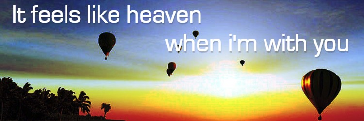 It's Feel Like Heaven When I'm With You Twitter Cover