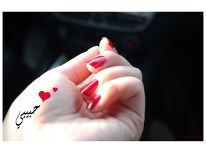 Type your lover's name on girl hand 4