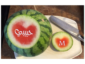 Your name and lover on watermelon 99