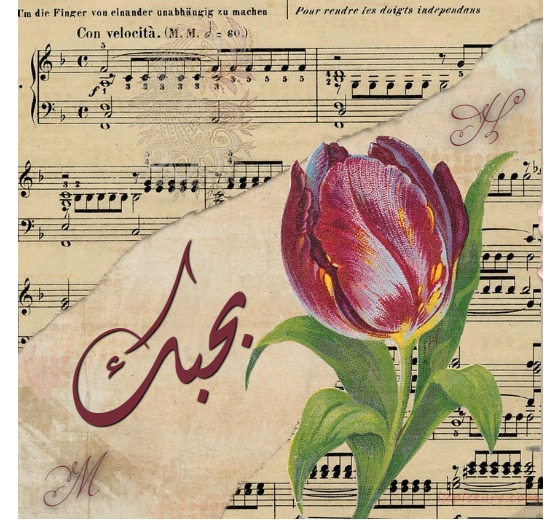 Type Your Lover's Name On A Musical Note And A Flower Violets Postcard