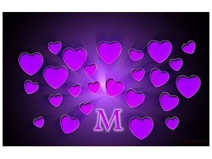 Your name and your lover are on purple hearts