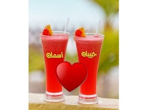 Juice glasses with heart